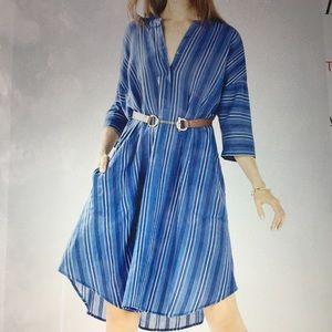BCBG Max Mara Azaria Kiely Striped shirt Dress Med